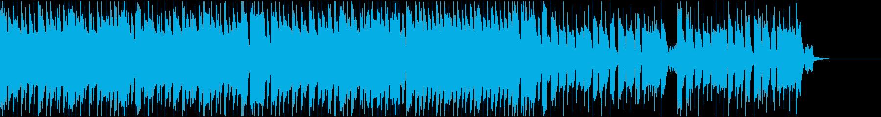 攻撃的なEDMの再生済みの波形