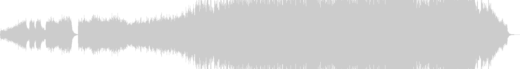 オルガン・幕開け盛大な作品に 長尺+の未再生の波形