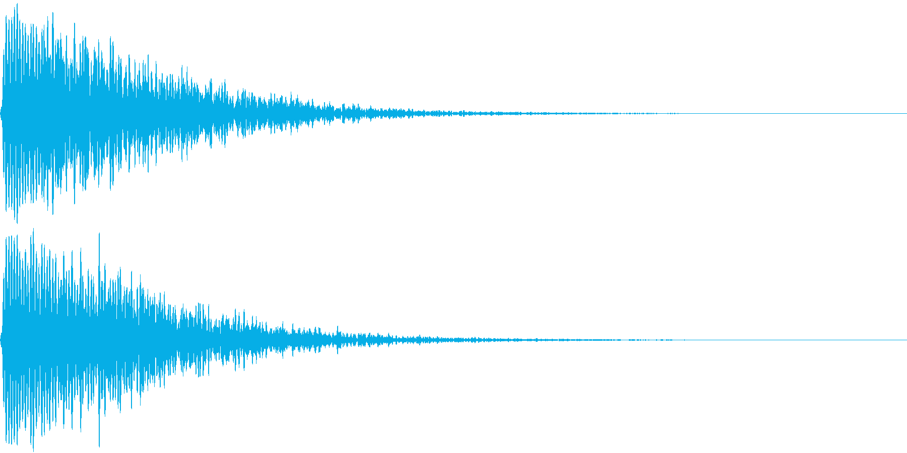 TVFX ホラーなホイッスル音の再生済みの波形