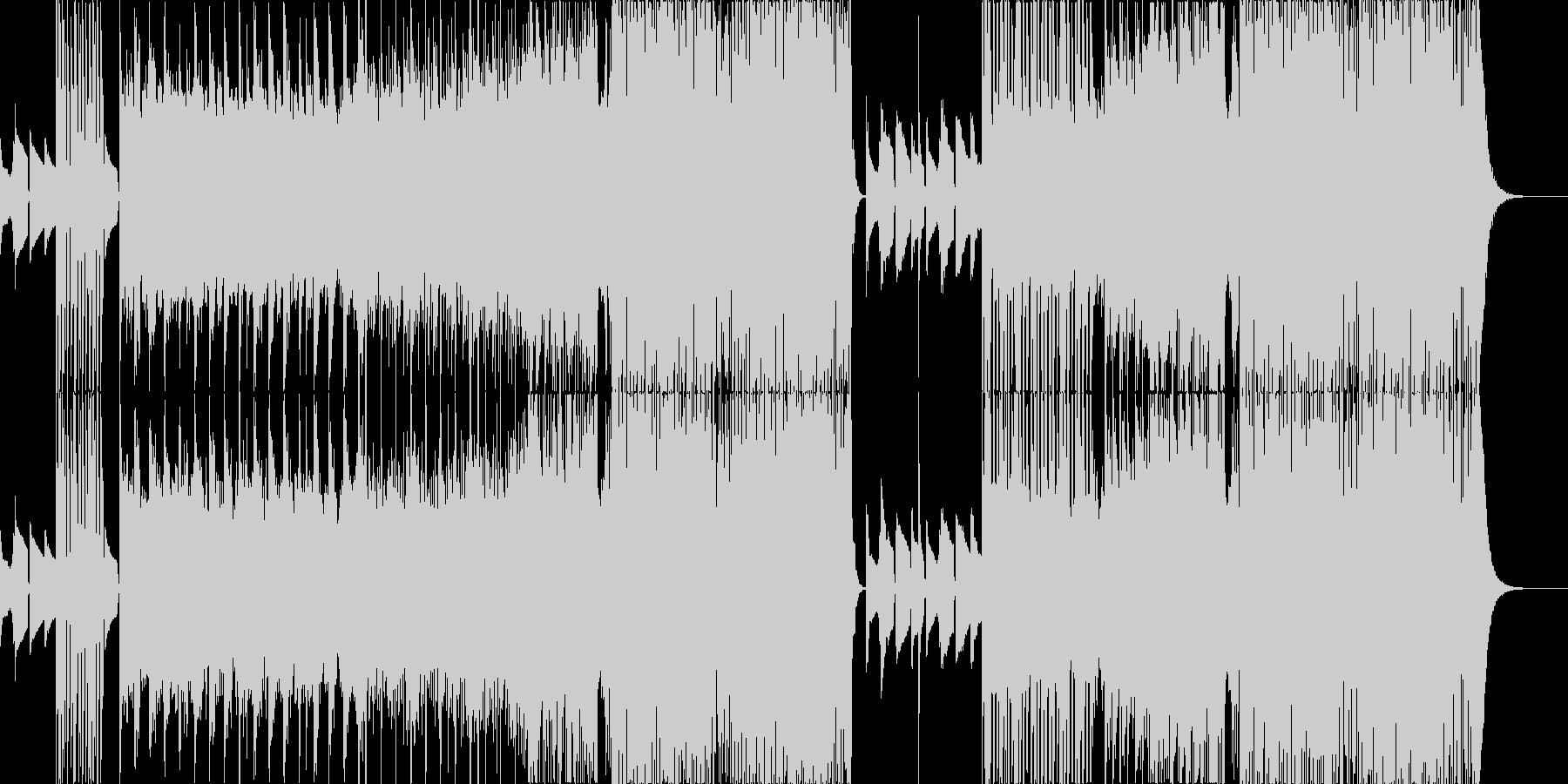爽快感のあるEDMの未再生の波形