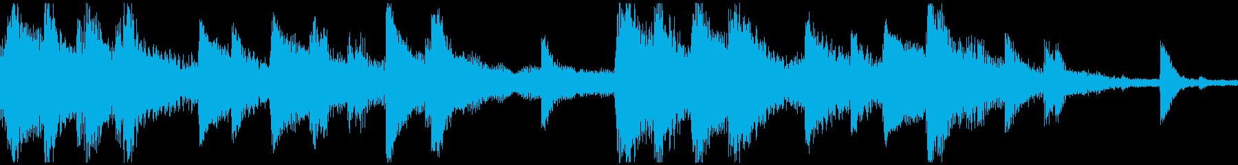 <ショートループ> ピアノ⑨+ビートCの再生済みの波形