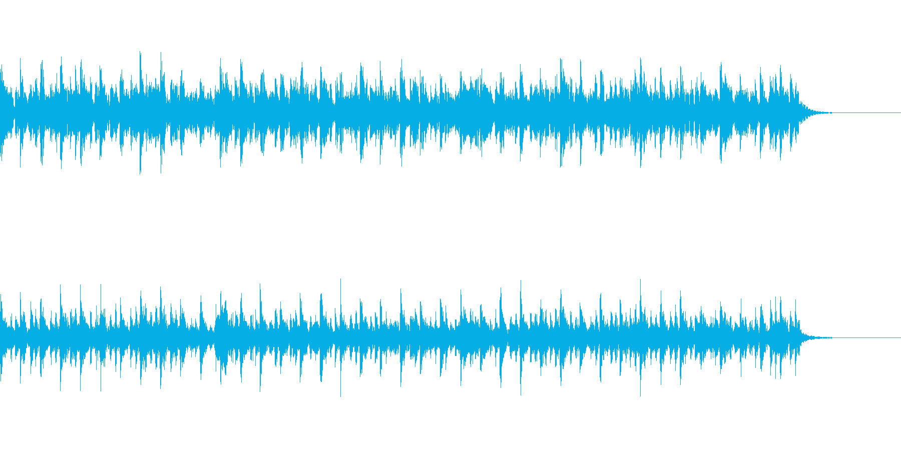 【和風】疾走感の和太鼓、篠笛のお囃子入りの再生済みの波形