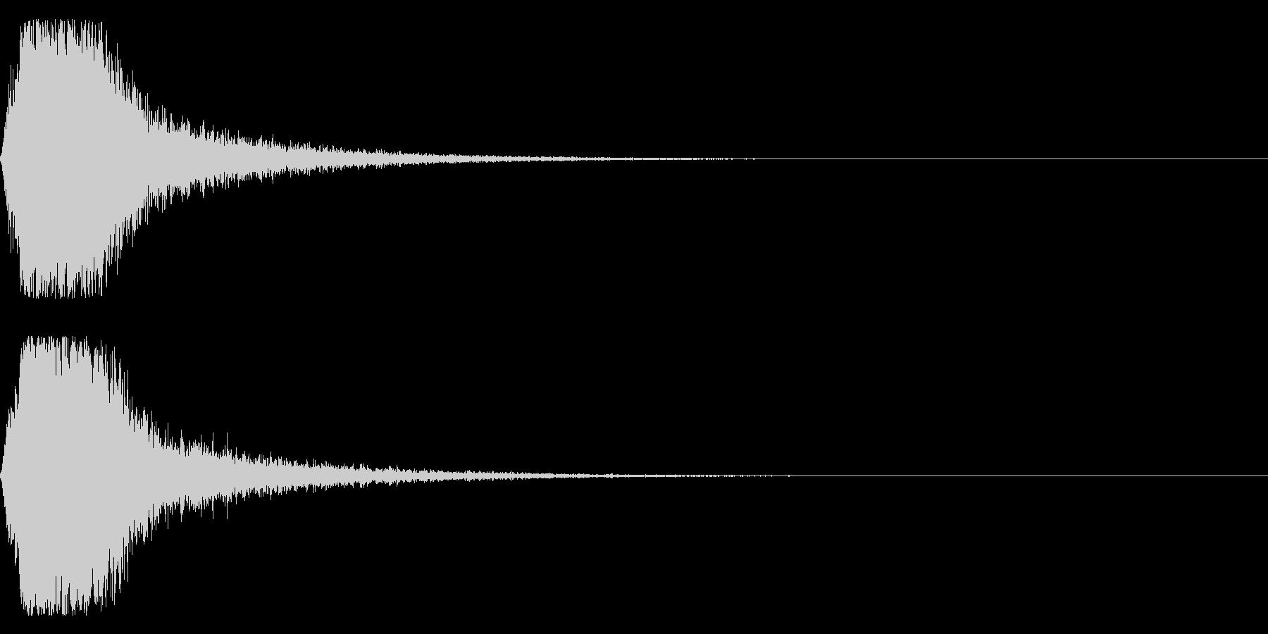グシャ!刀や剣の斬撃音 14vの未再生の波形