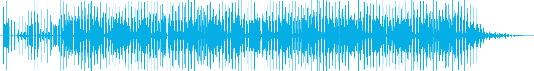 何かが積み上がっていくイメージの再生済みの波形