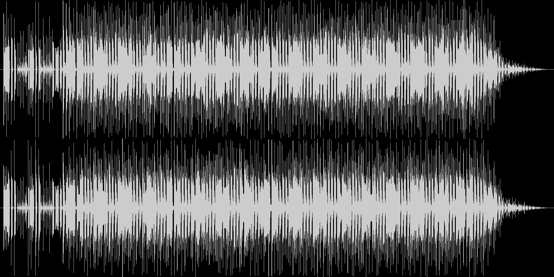 何かが積み上がっていくイメージの未再生の波形