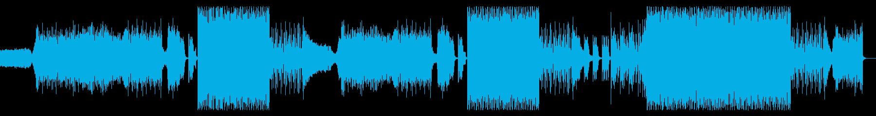 キラキラEDMビートの再生済みの波形