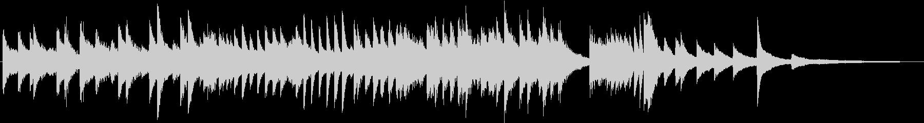 もろびとこぞりてのクリスマスピアノBGMの未再生の波形
