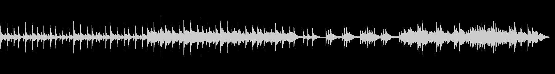 夜雪が降るイメージのピアノ曲の未再生の波形