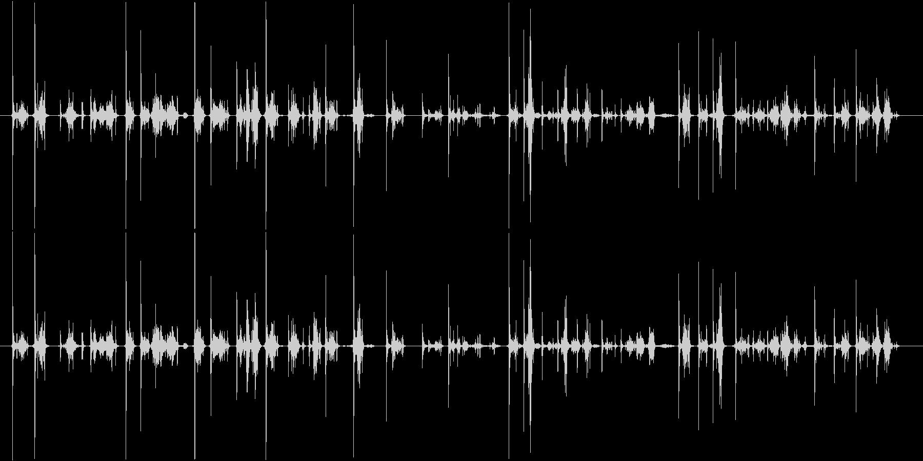 カーカー(ボールペンで書く音)Aの未再生の波形