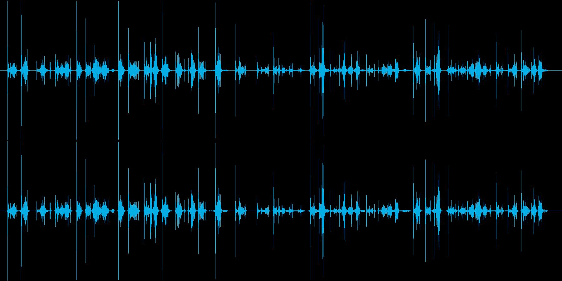 カーカー(ボールペンで書く音)Aの再生済みの波形
