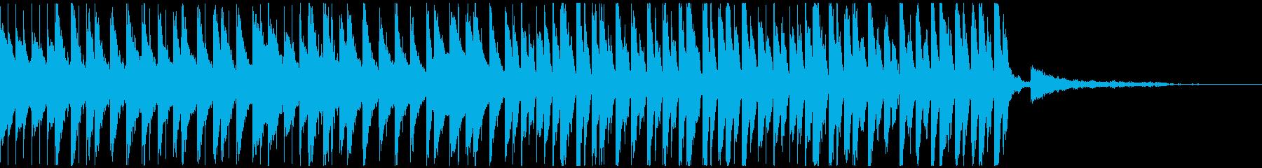 おもちゃを使った明るい曲の再生済みの波形