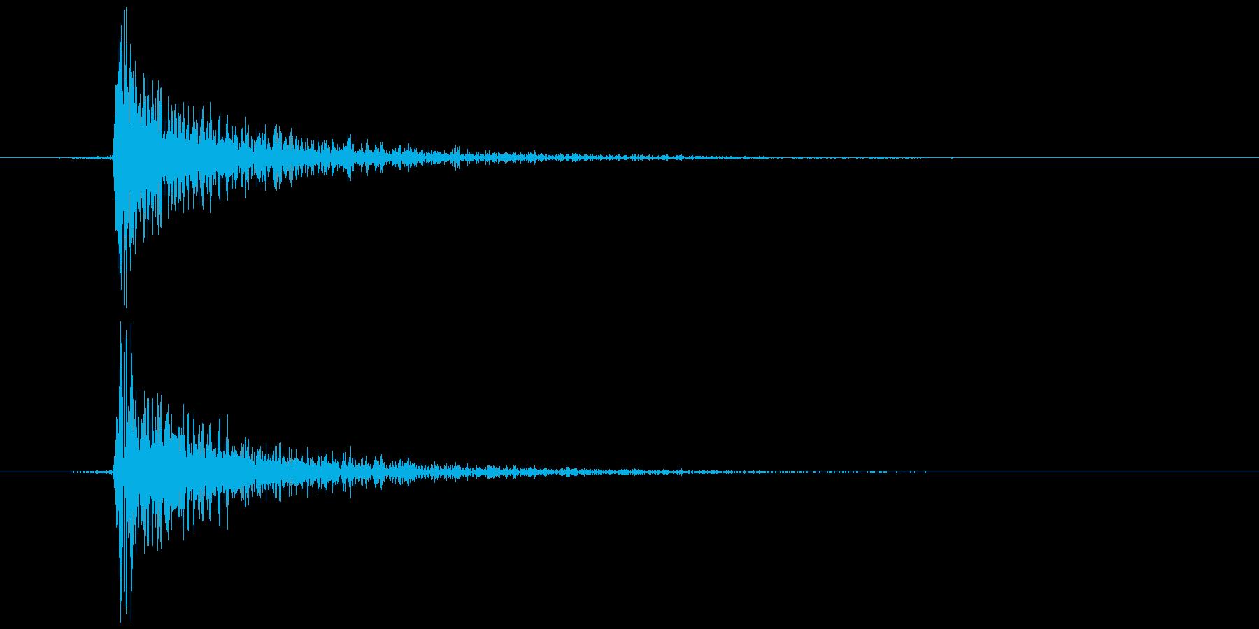 鍵をかける(施錠解錠) カンッの再生済みの波形
