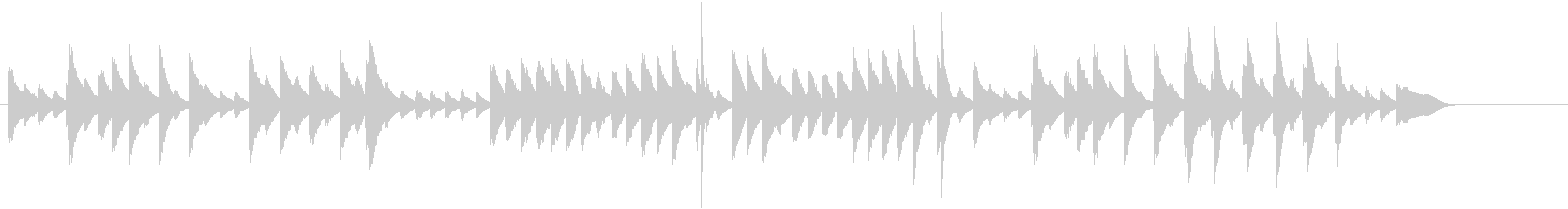 童謡・お正月モチーフのピアノジングルDの未再生の波形