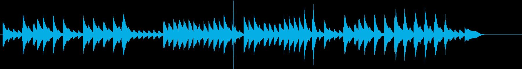 童謡・お正月モチーフのピアノジングルDの再生済みの波形