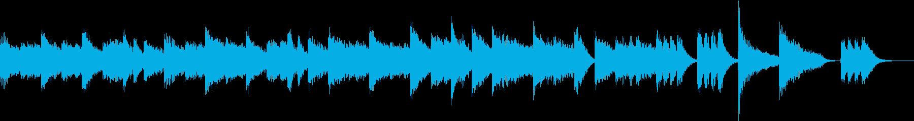 興奮と感動、声援を描いたピアノジングルの再生済みの波形