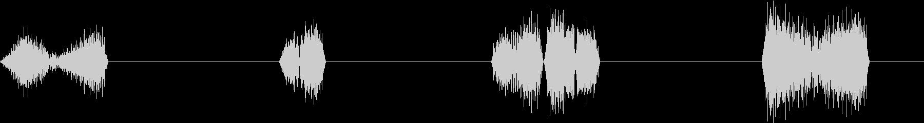 DJプレイ スクラッチ・ノイズ 10の未再生の波形