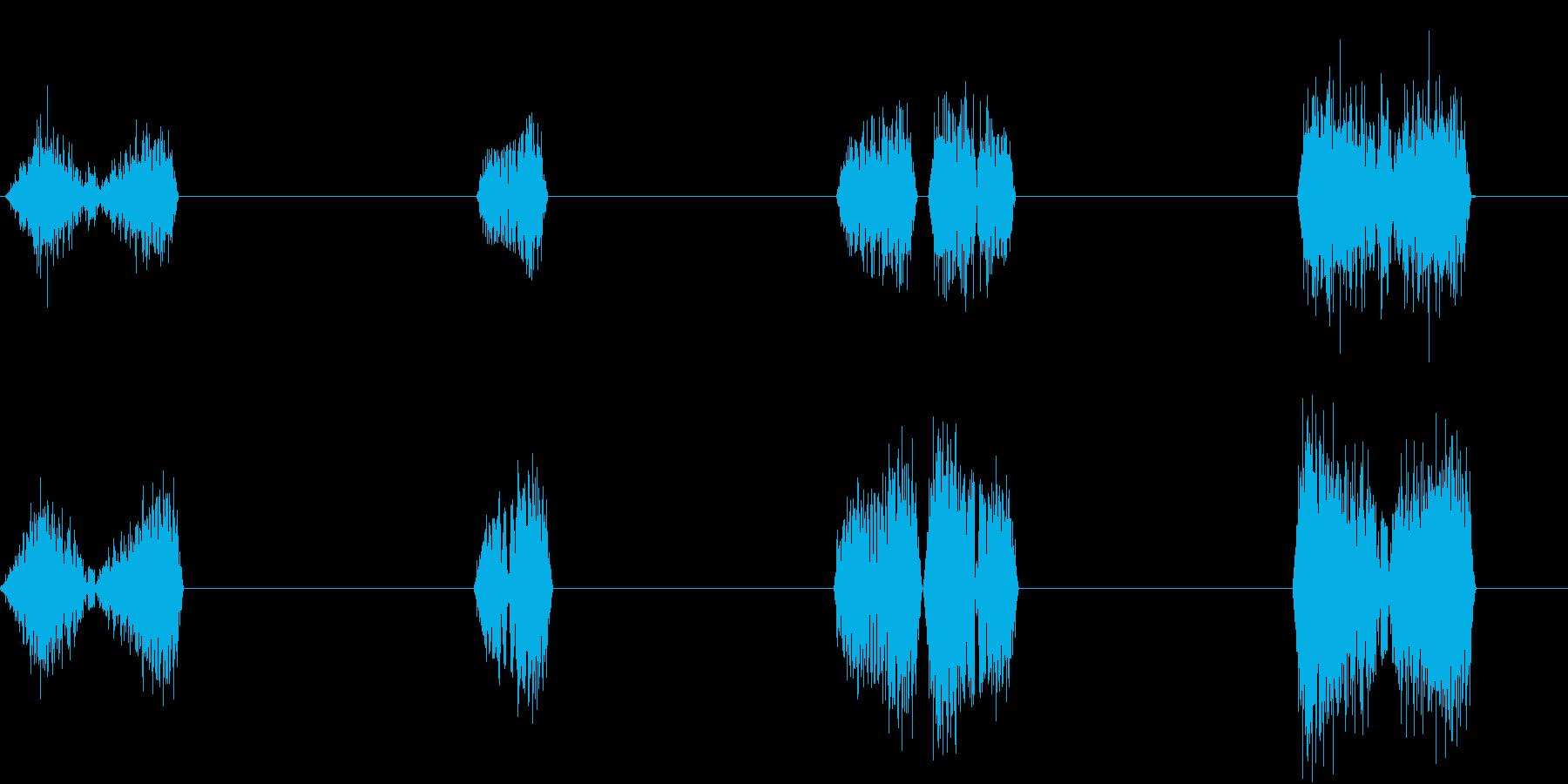 DJプレイ スクラッチ・ノイズ 10の再生済みの波形