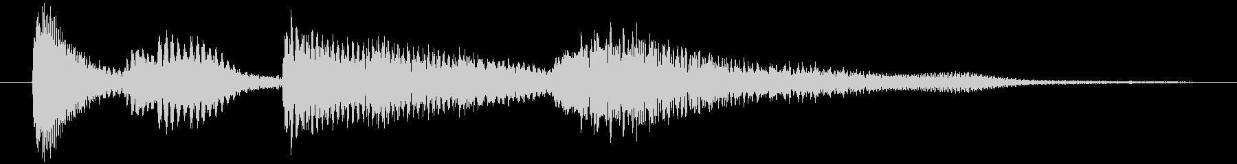 ピアノのシンプルなジングル4秒の未再生の波形