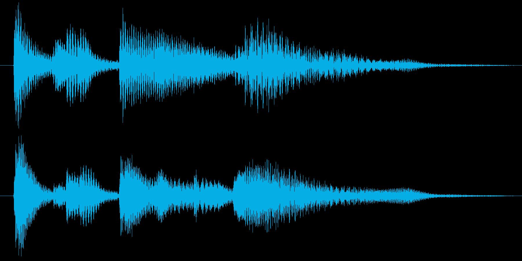 ピアノのシンプルなジングル4秒の再生済みの波形