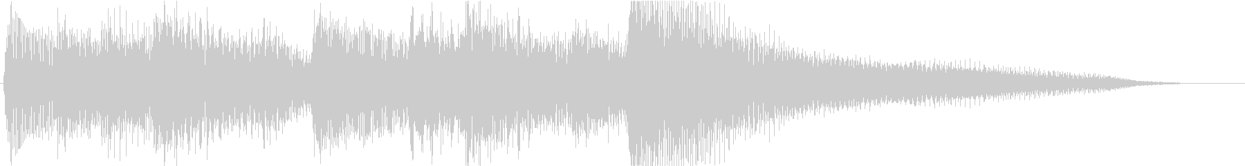 ピアノのレベルアップっぽいジングルの未再生の波形