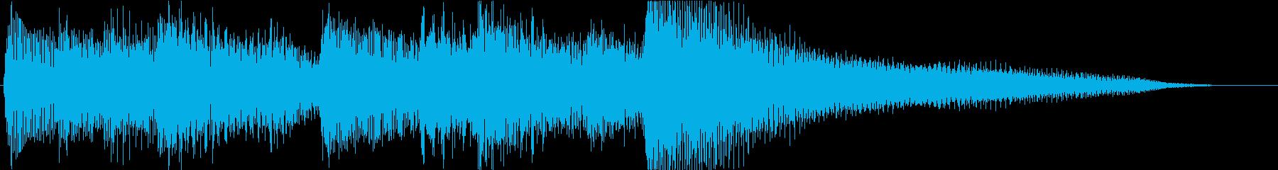 ピアノのレベルアップっぽいジングルの再生済みの波形