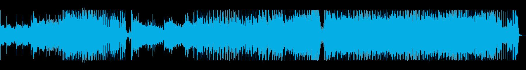 ダイナミックで爽やかなロックの再生済みの波形