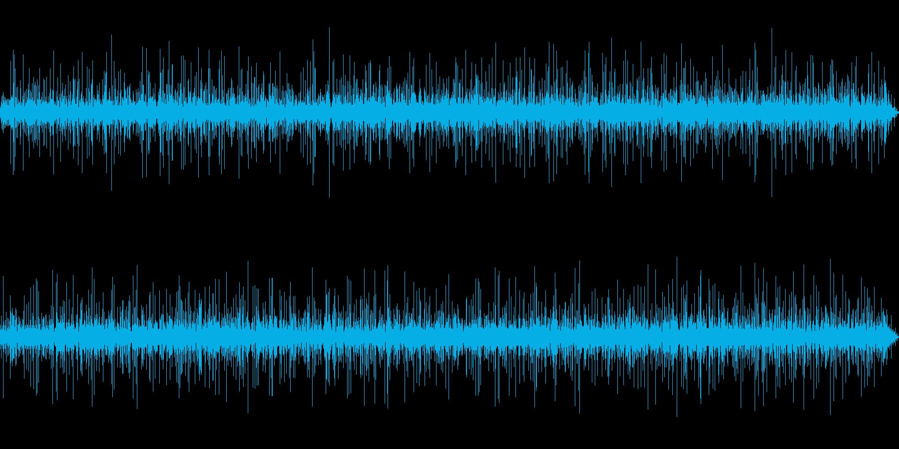 木の葉に当たる雨-2の再生済みの波形