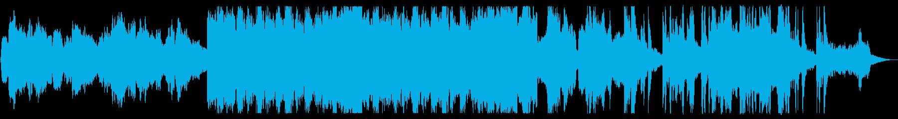 ほのぼのとしたオーケストラ曲の再生済みの波形
