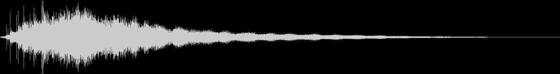 素敵な演出に綺麗なキラキラ音1の未再生の波形