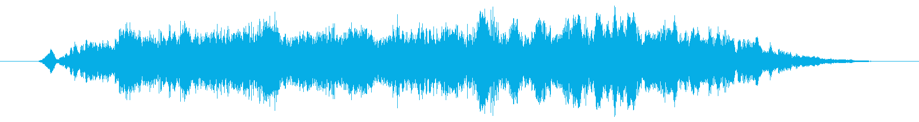 ホラー 恐怖や不安を予感するような奇怪音の再生済みの波形