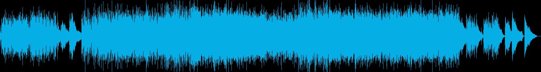 ピアノとエレピがメインのポップバラードの再生済みの波形