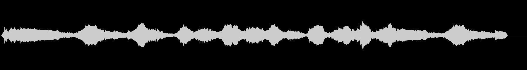 雰囲気、金属振動のある重いハムの未再生の波形
