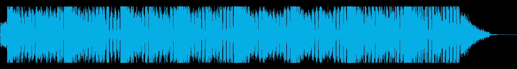 勢いのある4つ打ちジングルの再生済みの波形