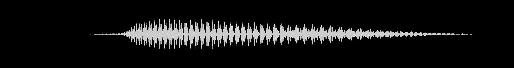 鳴き声 男性ため息熟考02の未再生の波形