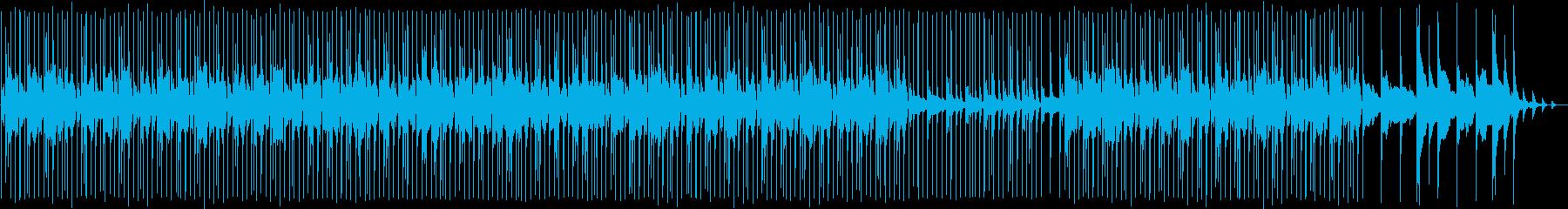 和楽器の楽しい和風ミュージックの再生済みの波形