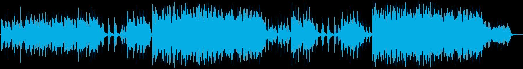 静かに美しく感動的なピアノ独奏曲の再生済みの波形