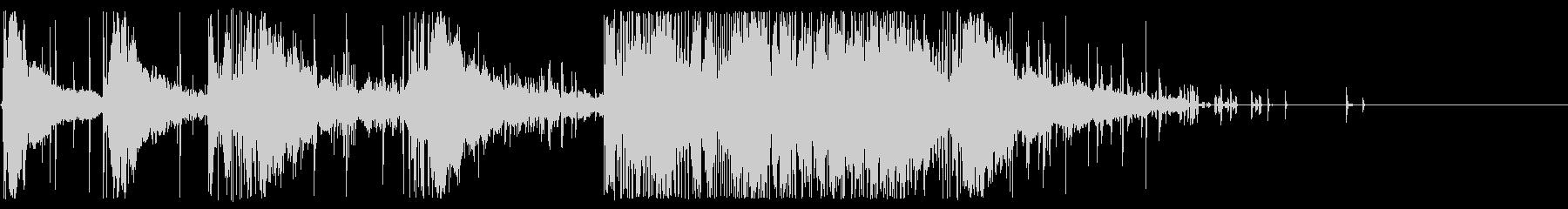花火:回転するホイッスル:重い口h...の未再生の波形