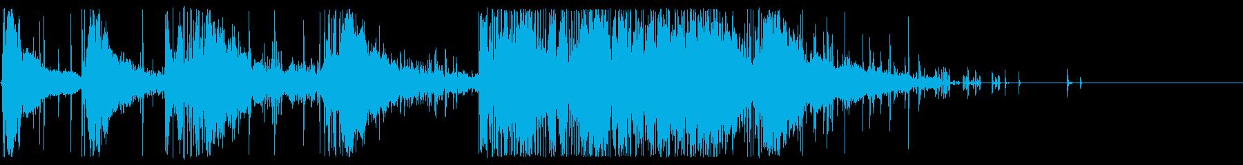 花火:回転するホイッスル:重い口h...の再生済みの波形