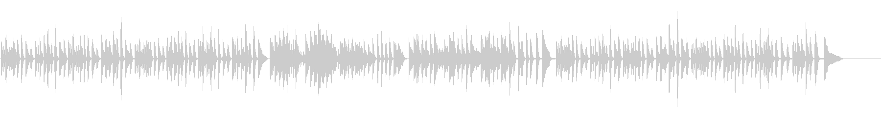 ガボット/ゴセック(ピアノソロ)の未再生の波形