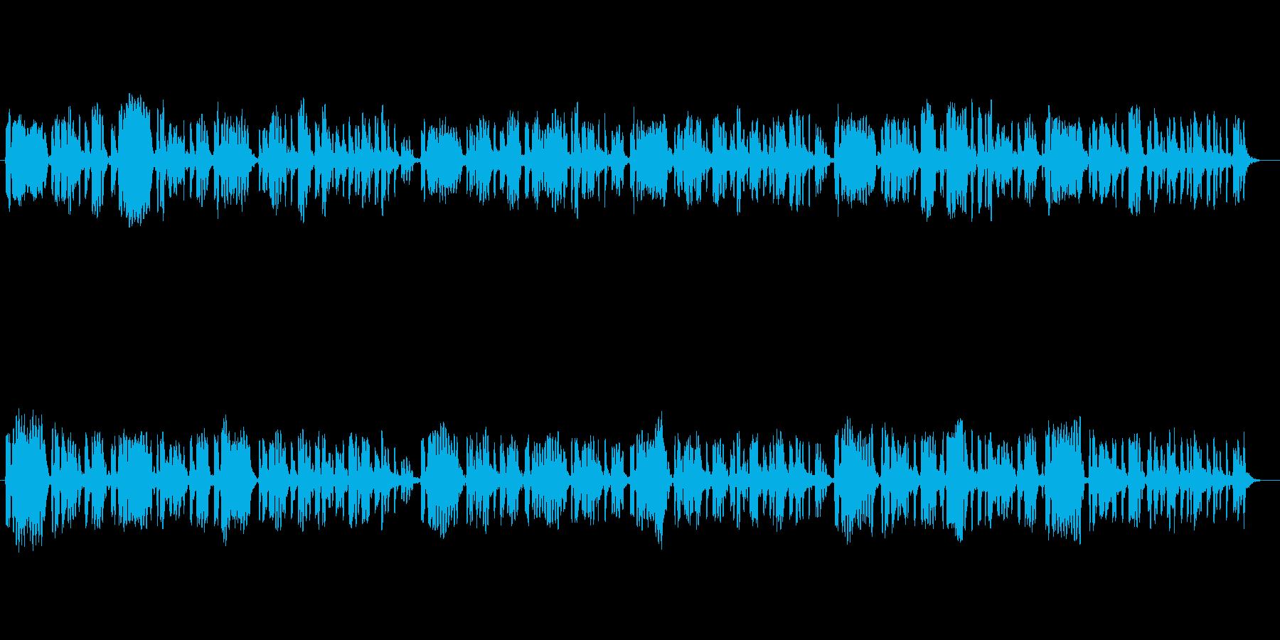 天気予報をイメージしたフルート独奏曲の再生済みの波形