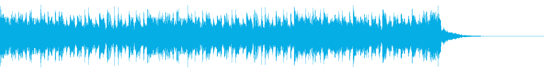 デジタルで無機質なカウントダウン15秒の再生済みの波形