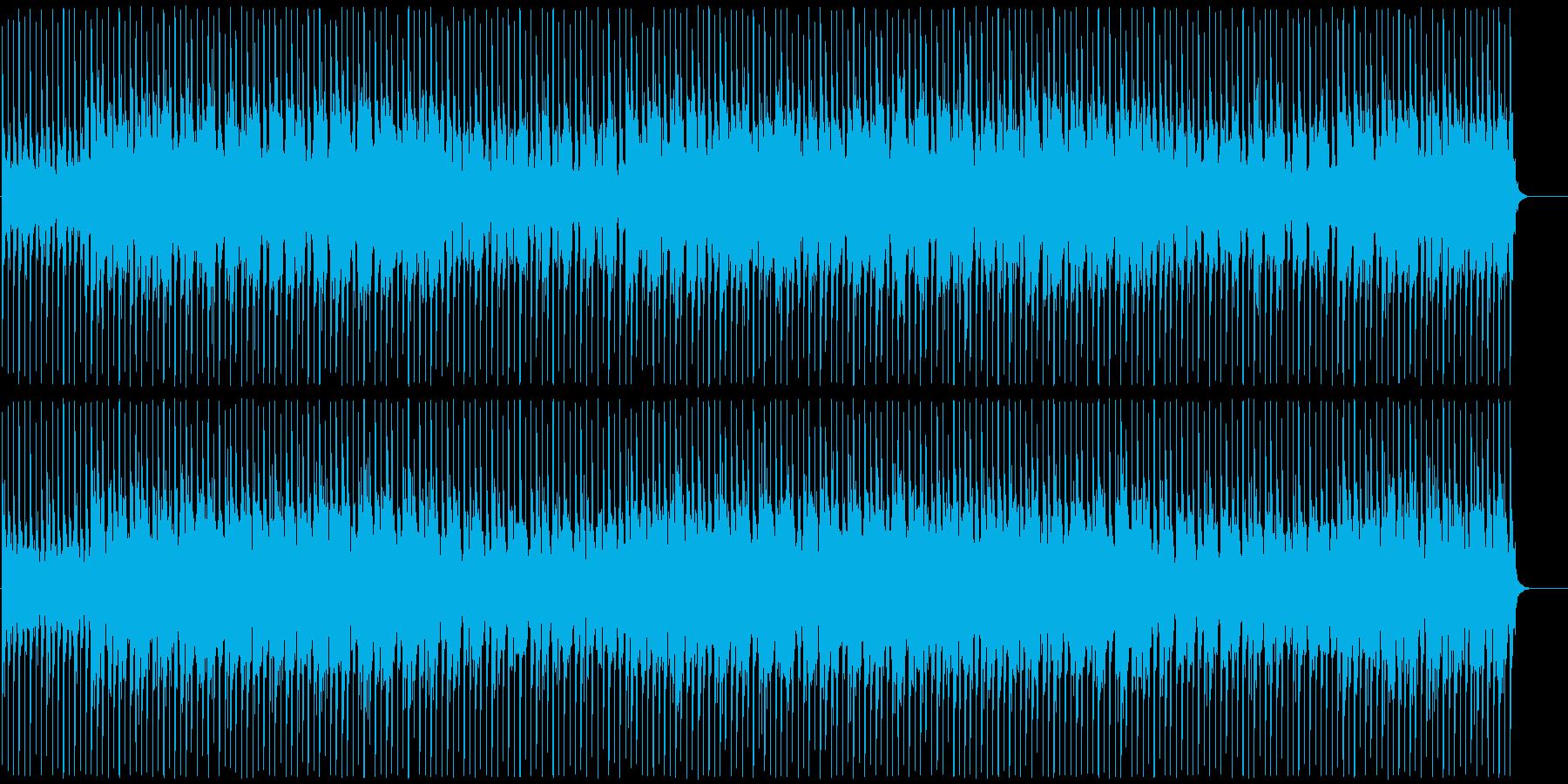 奇怪でエレクトリックなBGMの再生済みの波形