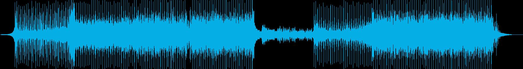 疾走感あるシンセのリフが印象的な曲の再生済みの波形