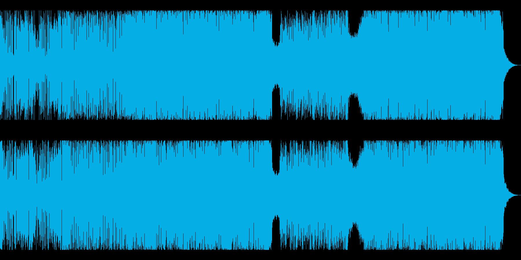 おしゃれなブレイクビーツBGMの再生済みの波形