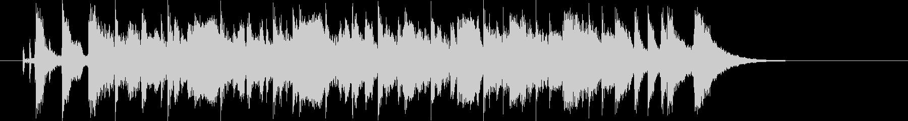 広がりのあるポップな曲の未再生の波形