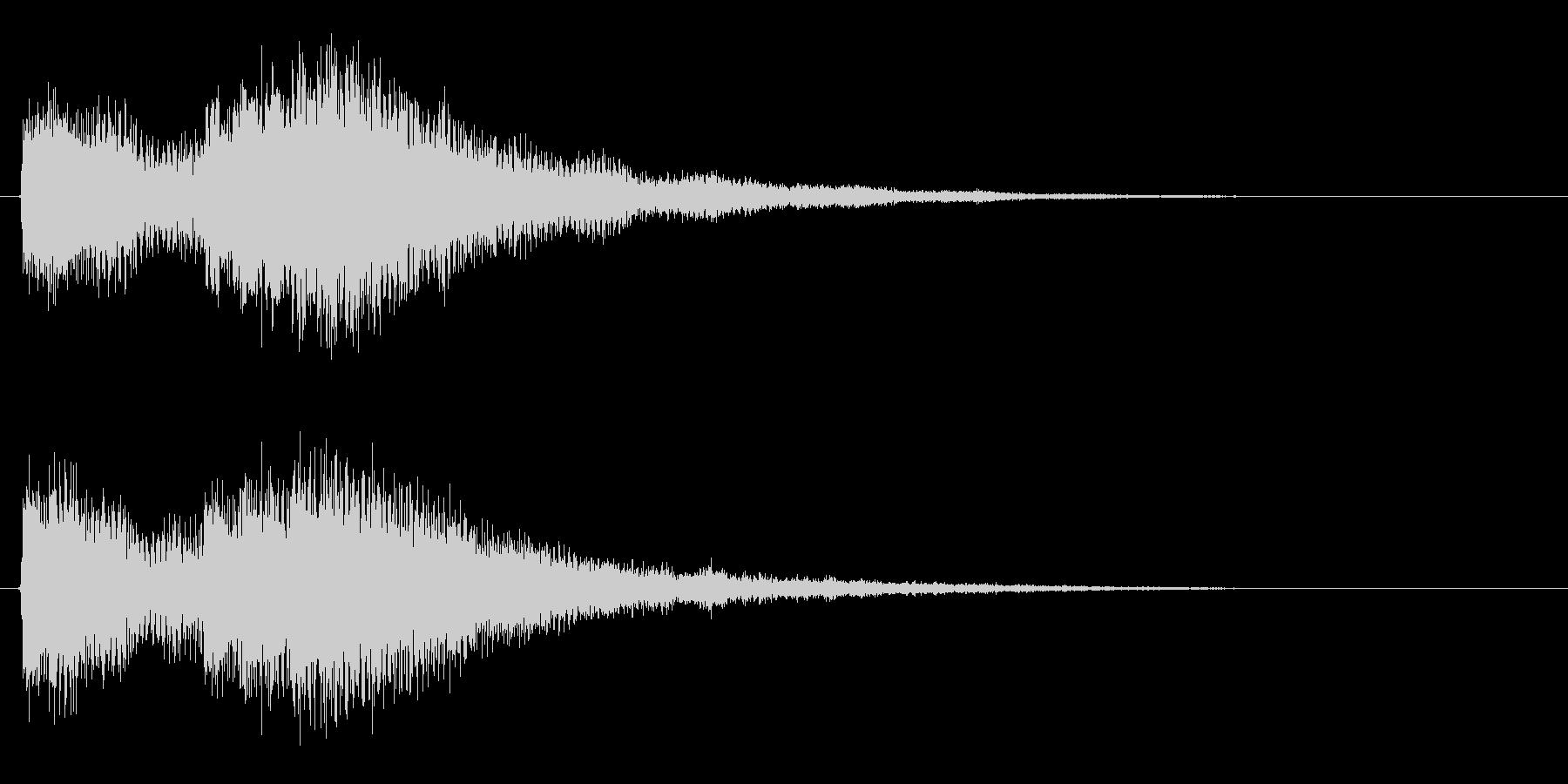 ブランドロゴ向けジングル2の未再生の波形