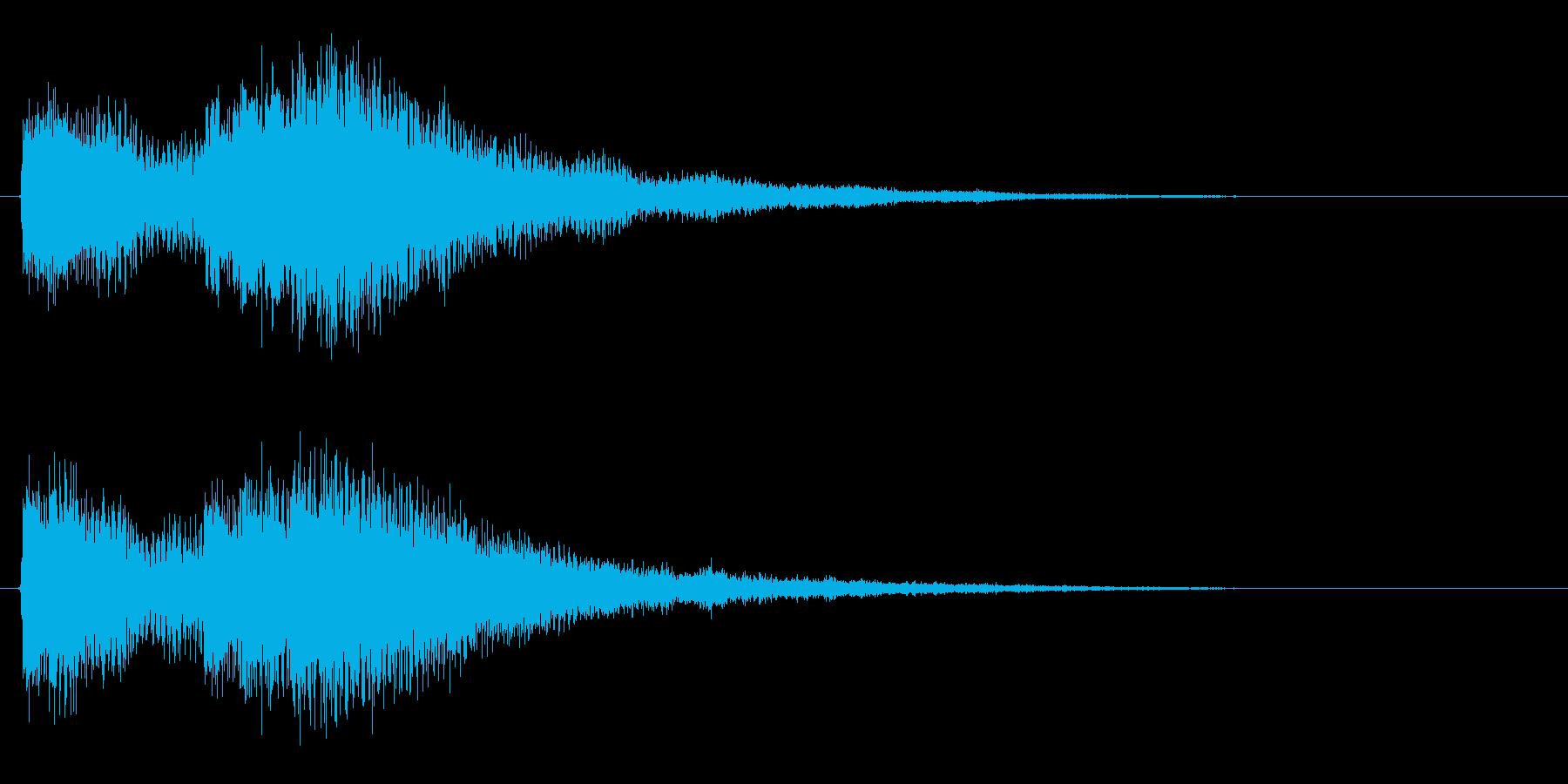 ブランドロゴ向けジングル2の再生済みの波形