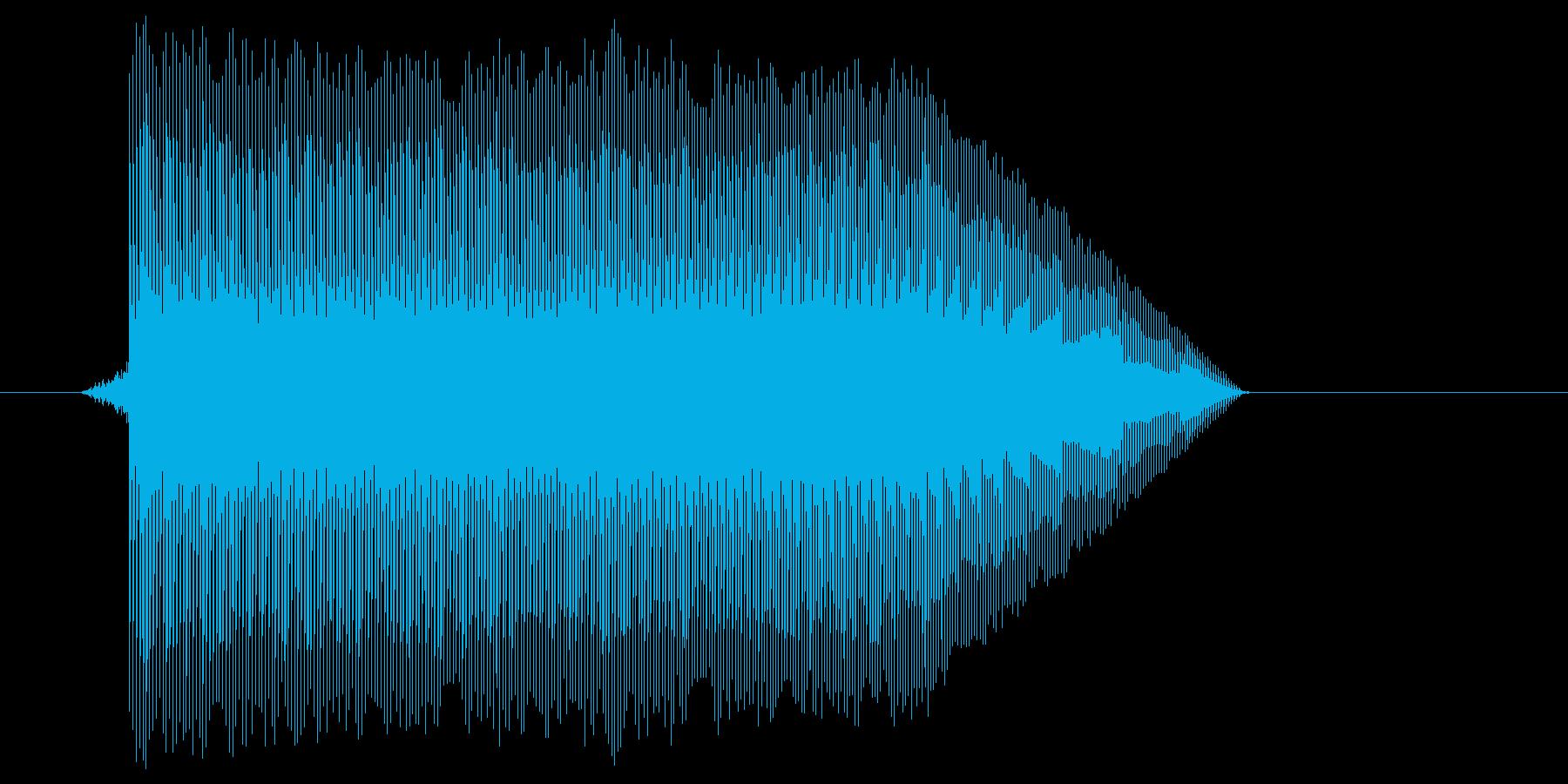 ゲーム(ファミコン風)ジャンプ音_018の再生済みの波形