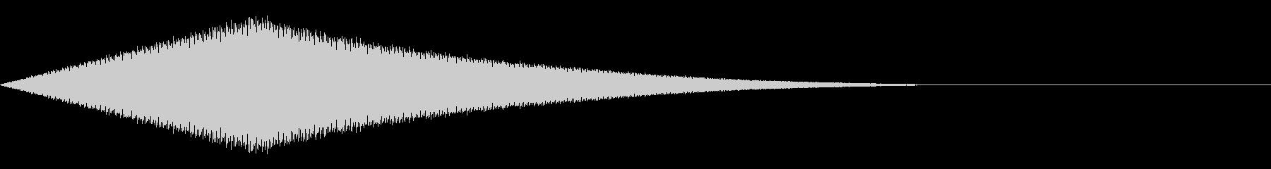 耳鳴り/嫌な気配を感じた時の効果音の未再生の波形