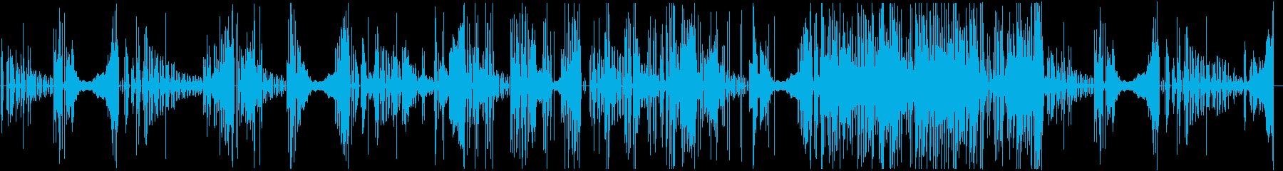 変則ビートのシンセサイザー音の再生済みの波形